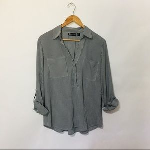 New York & Co striped blouse